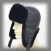Мужская норковая шапка ушанка (Пилот)