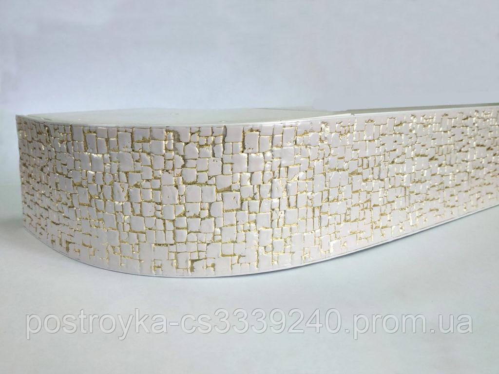 Лента декоративная на карниз, бленда Кайман 01 Белое золото 70 мм на усиленный потолочный карниз КСМ