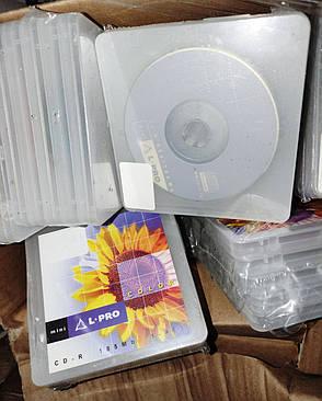 Диск CD-R mini L-Pro 185 Mb 48Х, упаковка из 5 дисков в коробках Slim Box, фото 2