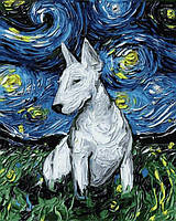 Картина рисование по номерам Mariposa Звездный бультерьер 40х50см Q2193 набор для росписи, краски, кисти,