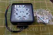 Фара LED дополнительная квадратная Светодиодная лампа LED 27W 9 ламп