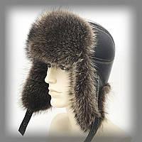 Мужская меховая шапка из енота-полоскуна (Пилот)