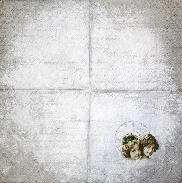 Салфетка декупажная Две девочки 1585