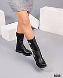 Демисезонные сапоги кожаные черные, фото 2