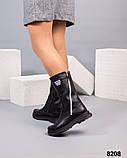 Демисезонные сапоги кожаные черные, фото 3