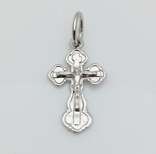 Хрест дитячий 46100169, висота 20 мм ширина 14 мм, родій