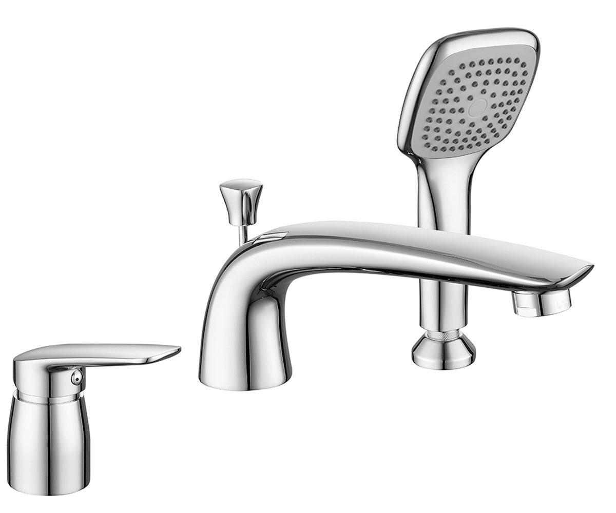Смеситель на 3 отверстия для ванны Imprese Praha 85030 NEW хром