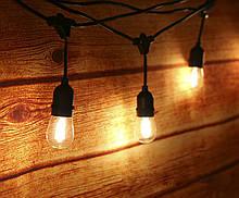 Гирлянда - лампочки LED FILAMENT BULB STRING, 240V, S14 / 4 метра 20 ламп (расстояние между лампами 20см)