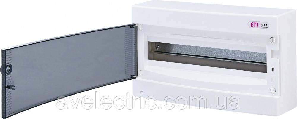 Щит накладной распределительный ECT 18PT (18мод.прозр.дверь) IP40, ETI, 1101002