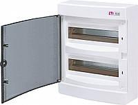 Щит накладної розподільчий ECT 24PT (24мод.прозр.двері) IP40, ETI, 1101003