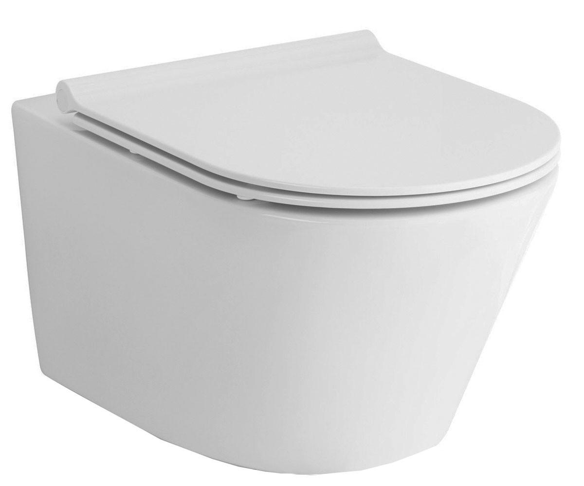 Унитаз подвесной Rimless с сиденьем Slim slow-closing Volle Aiva 13-68-526 белый