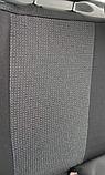 Чехлы DACIA Logan (Дачия Логан) c 2013г (ЦЕЛЬНЫЙ - СЕДАН) модельные Prestige (комплект) Темно-серые, фото 4