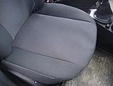 Чехлы в салон для Hyundai Accent с 2011г (3 door hatchback) модельные Prestige ЭКОНОМ (комплект) Темно-серые, фото 2