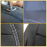 Чехлы в салон для Hyundai Accent с 2011г (3 door hatchback) модельные Prestige ЭКОНОМ (комплект) Темно-серые, фото 3