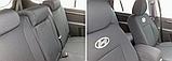 Чехлы в салон для Hyundai Accent с 2011г (3 door hatchback) модельные Prestige ЭКОНОМ (комплект) Темно-серые, фото 6