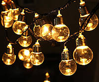 Гирлянда - лампочки LED FILAMENT BULB STRING, 240V, G45 / 2 метра 10 ламп (расстояние между лампами 20см)