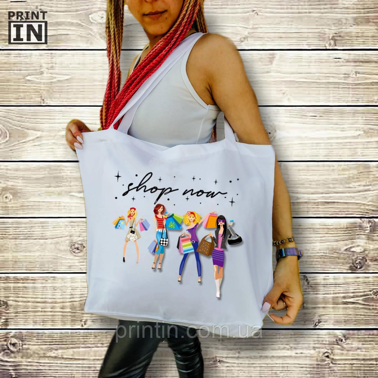 Печать на сумке для покупок Fashion с дном