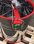 Медогонка 4-х Рамоч. Поворотная. С Горизонтальным Электроприводом на подставке! Кассеты сварные, порошковые., фото 3