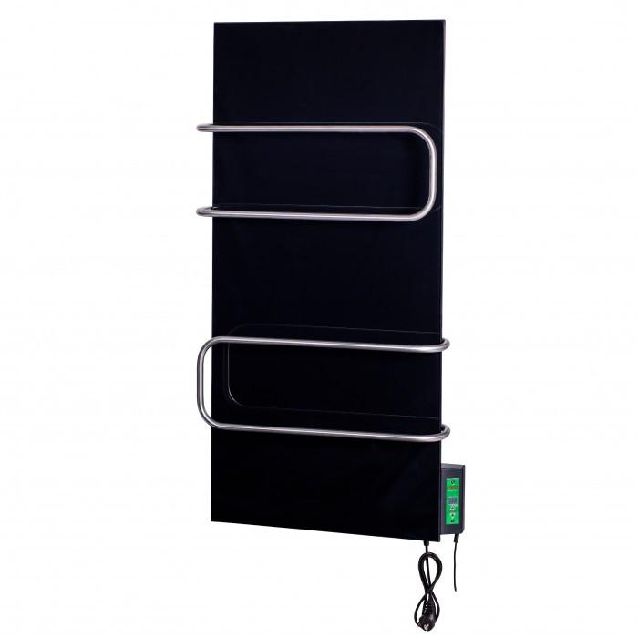 Скло–керамічний полотенцесушитель Dimol Standart 07 U TR з терморегулятором чорний