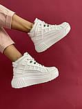 Женские ботинки кожаные зимние белые, фото 3