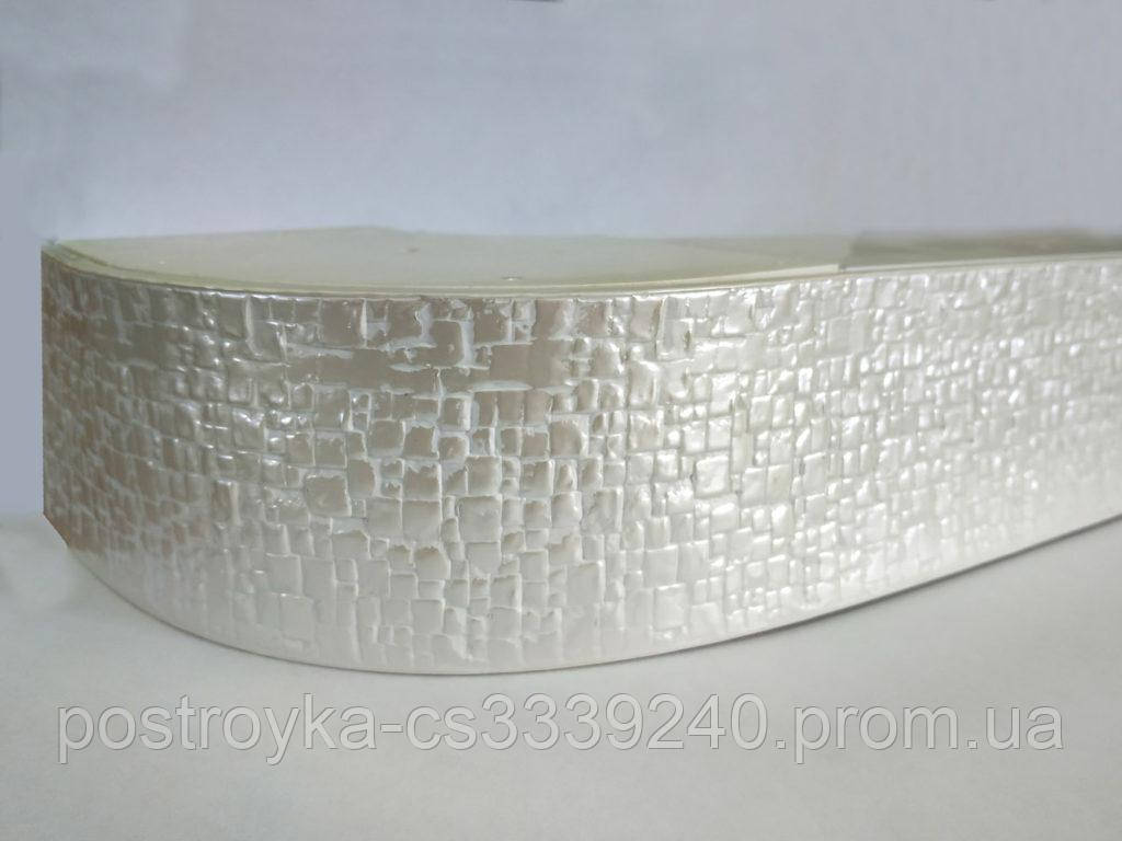 Лента декоративная на карниз, бленда Кайман 100 Жемчужный 70 мм на усиленный потолочный карниз КСМ