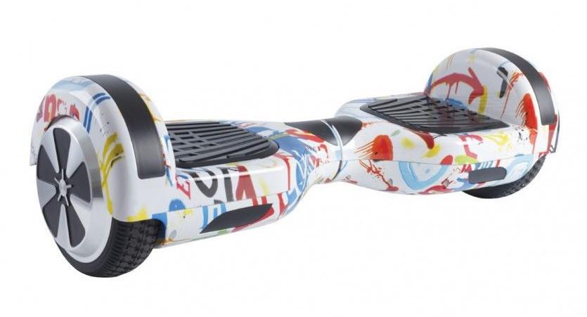 Гироборд Smart Balance 6,5 дюймов Гироскутер Цвет - Белый графити полная комплектация