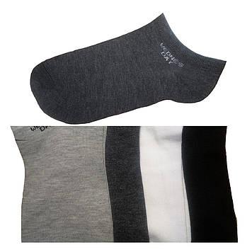 Носки мужские короткие тонкие хлопок серый