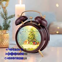 Декоративный светильник «Часы» с эффектом снегопада NEON-NIGHT, фото 1