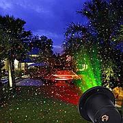 Новогодний уличный лазерный проектор 2 цвета пульт ДУ Laser