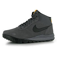 Ботинки мужские Nike Hoodland Suede Walking серые, фото 1