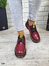 Женские осенние туфли в стиле Dr. Martens LS-239, фото 3