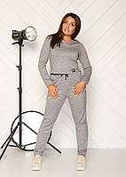 Жіночий трикотажний спортивний костюм великих розмірів з укороченой кофтою р. 46-54. Арт-2469/15