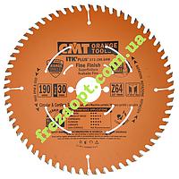 Пильный диск для чистого торцевого распила СМТ 273.190.64M (Ø190xØ30x64Z)