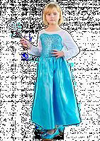 Новогодний костюм Фрозен с длинной накидкой и шлейфом, фото 1