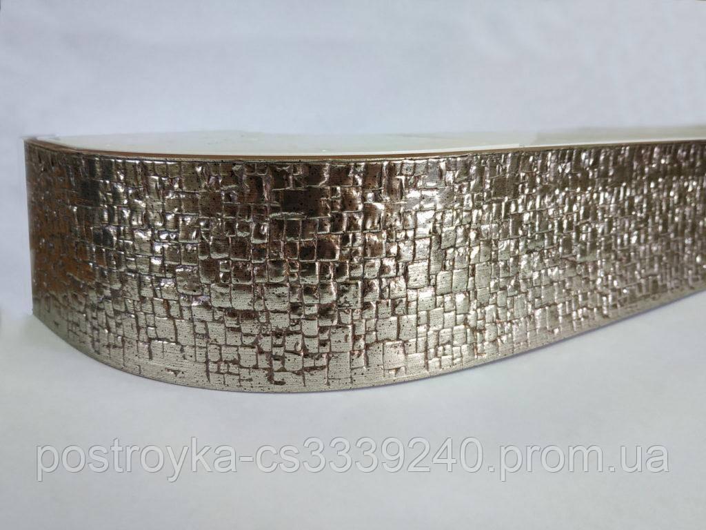 Лента декоративная на карниз, бленда Кайман 312 Хром 70 мм на усиленный потолочный карниз КСМ