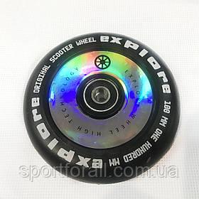 Колесо для трюкового самоката литой диск пластик 100мм 1шт Scooter Wheel ABEC 9