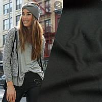 Ткань джинс стрейч на утеплителе черная