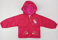 Демисезонная куртка Jingpin 23131 80см(р) малиновая сердце