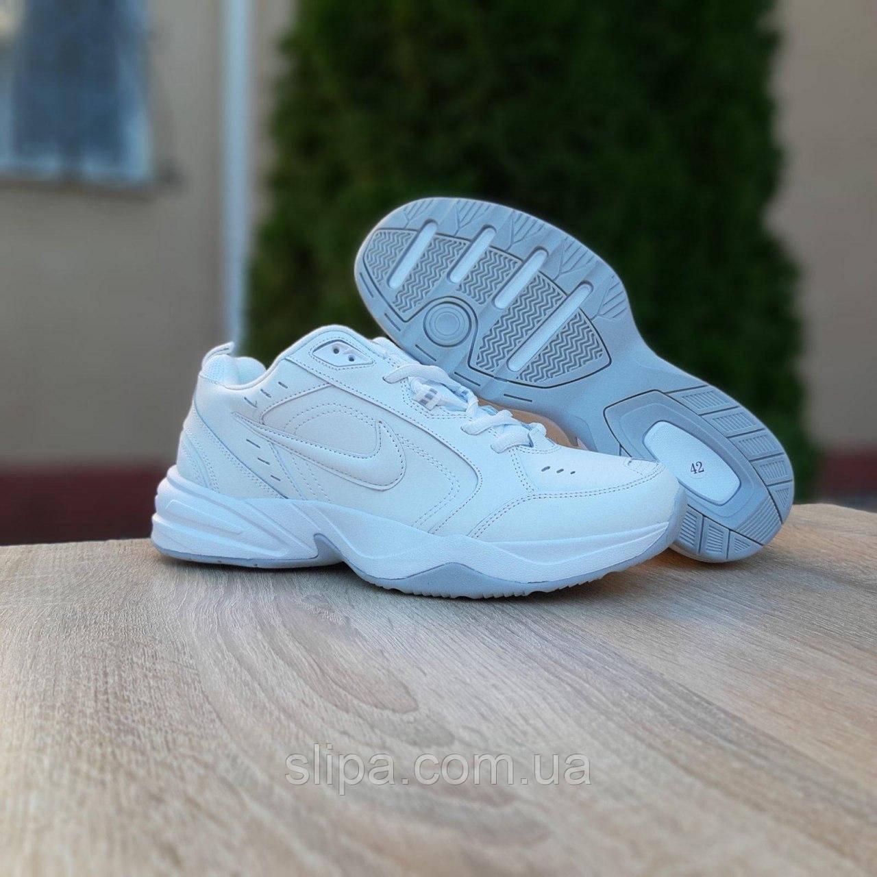Чоловічі шкіряні кросівки Nike Air Monarch білі