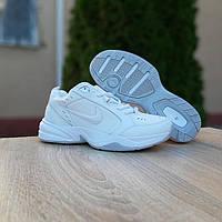 Чоловічі шкіряні кросівки Nike Air Monarch білі, фото 1