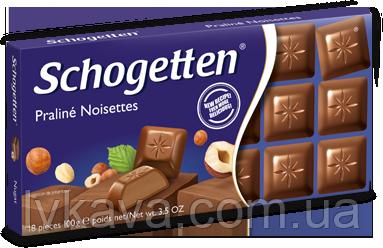 Молочный шоколад с нугой Schogetten Praline Noisettes,100 гр, фото 2