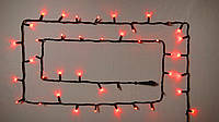 Гирлянда внешняя DELUX STRING 100 LED нитка 10m (2x5m) 20 flash красный/черный IP44 EN
