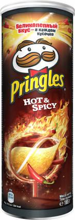 Чіпси Pringles Hot & Spicy Гострі 165 г, фото 2