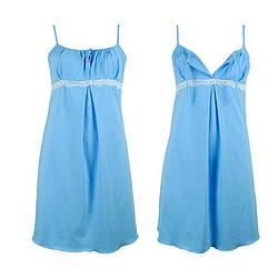Нічна сорочка для вагітних блакитна бавовняна