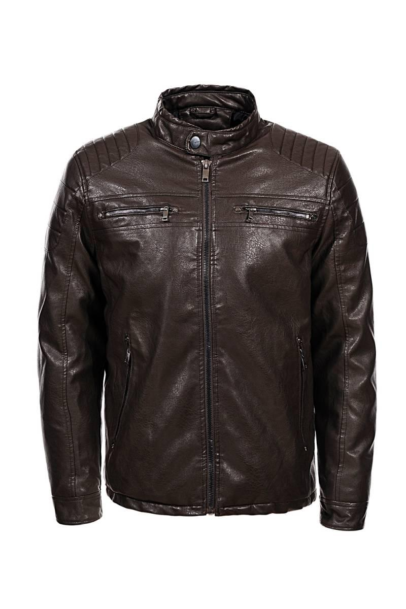 Теплая кожаная куртка. Последний размер 2XL