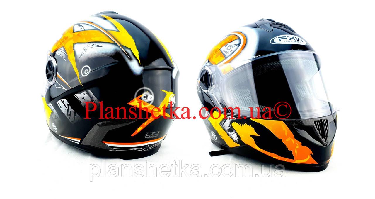 Шлем для мотоцикла Hel-Met 122 черный с желтым размер S/M