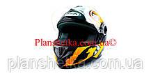 Шлем для мотоцикла Hel-Met 122 черный с желтым размер S/M, фото 2