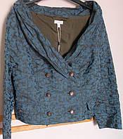 Костюм из голубой парчи с оригинальной юбкой Solar