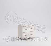 Тумба приліжкова Фемелі 2Ш глянець білий (Міромарк)