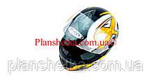 Шлем для мотоцикла Hel-Met 122 черный с желтым размер S/M, фото 3